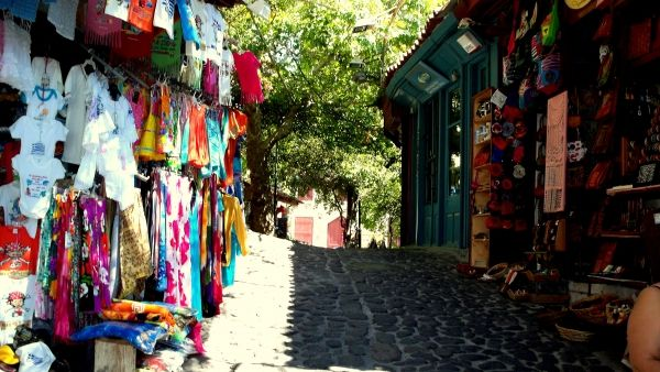 Shopping street in Molyvos