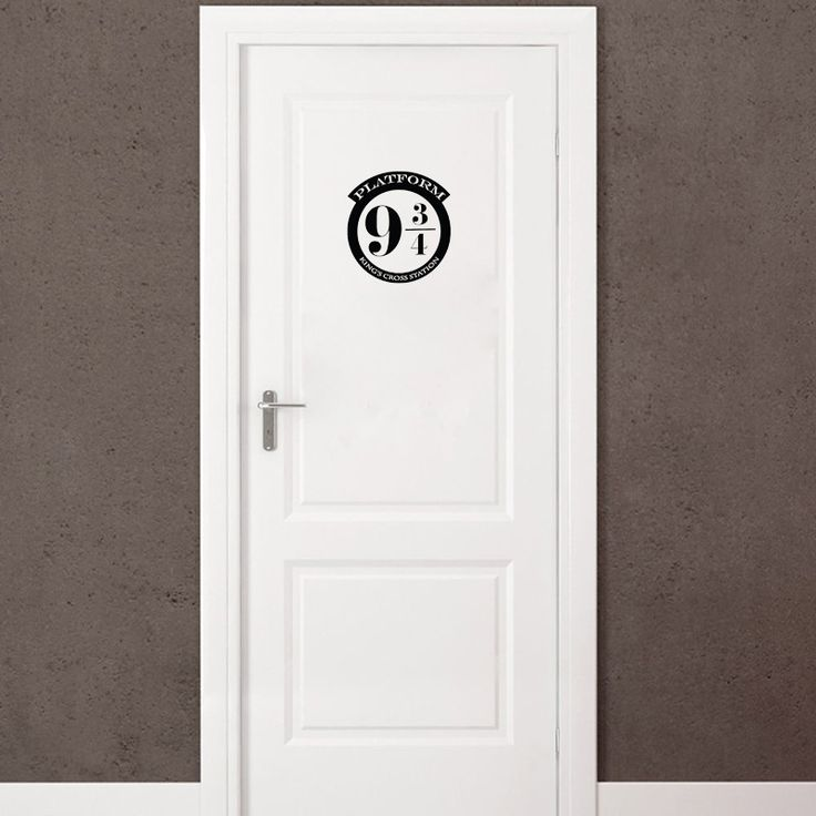 Funny Platform 9 3/4 Harry Potter Vinyl Door Sticker Removable Home  Decoration Wall Stickers