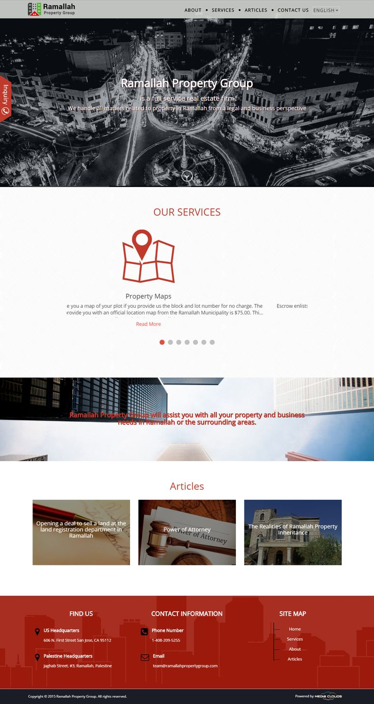 Ramallah Property Group is a leading real estate firm, therefore it needs a leading website. We managed to reflect the identity and services of the Group, creating a website with fresh color palettes and exquisite design