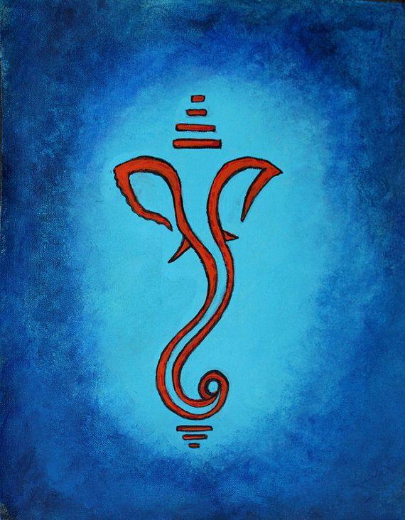 Vinayaka Chavithi Hd Wallpapers Blue Painting Meditation Art Hindu God Ganesh Ganesha