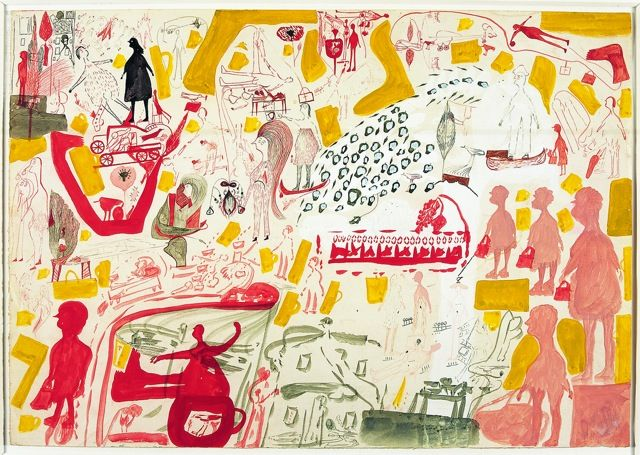 Carlo Zinelli (1916-1974), Untitled. Gouache on paper, 34.3 x 48.7 cm. Copyright: Musgrave Kinley Outsider Art Collection, Whitworth Art Gallery