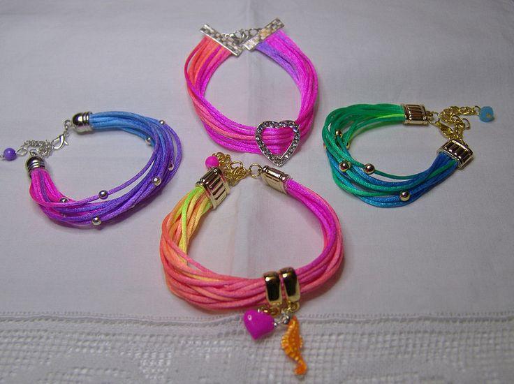 Color play - Summer rat tail bracelets