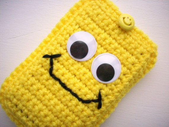 Bright Yellow Smiley Face Smartphone iPhone by CogansCreations, $9.00