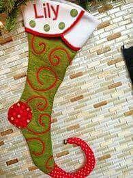 Bota duende navideña