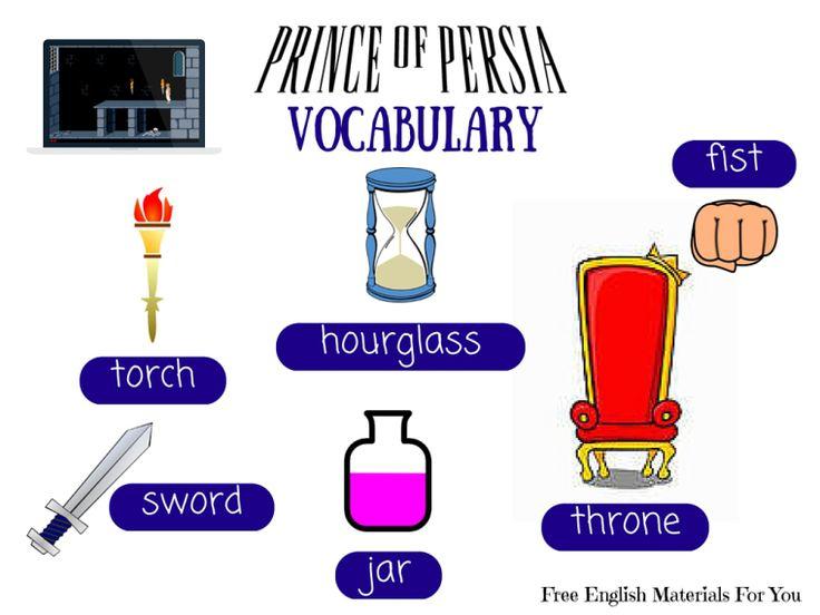 #VOCABULARY LIST - episode 5 - #English4Gamers - Free English Materials For You - #PrinceOfPersia #femfy #funEnglish