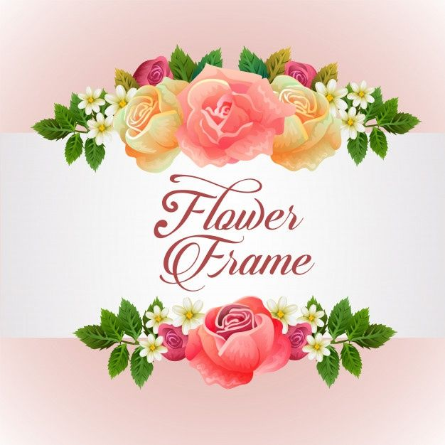 Download Template With Rose Florish Theme For Free In 2020 Vector Free Flower Frame Flower Border