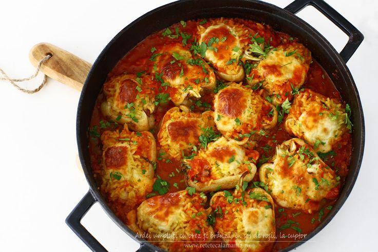 Ardei umpluți cu orez și brânză, în sos de roșii, la cuptor - trebuie să recunoașteți că sună bine. Vă asigur că gustul acestor ardei umpluți depăștește ceea ce...
