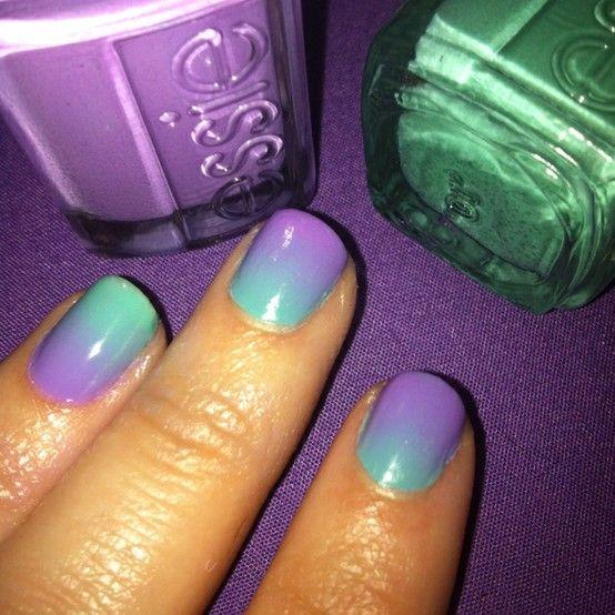 Gradient Nails #Purple #nails