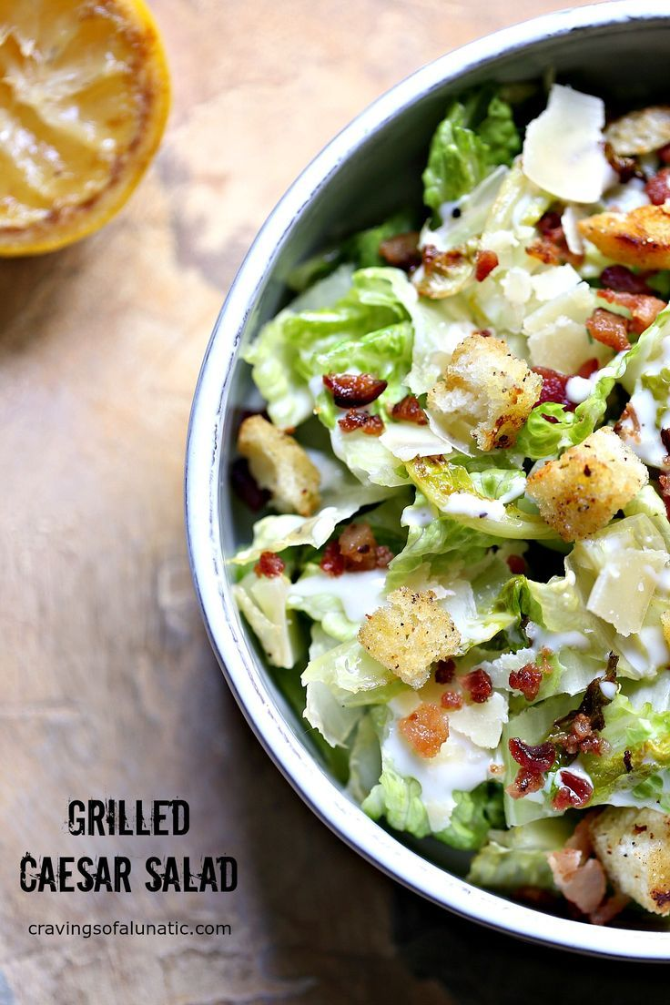 This recipe for Grilled Caesar Salad is out of this world. The lettuce and bread are cooked on the grill for optimal flavor. This is my daughter's favorite salad recipe. #sponsored #grill #salad