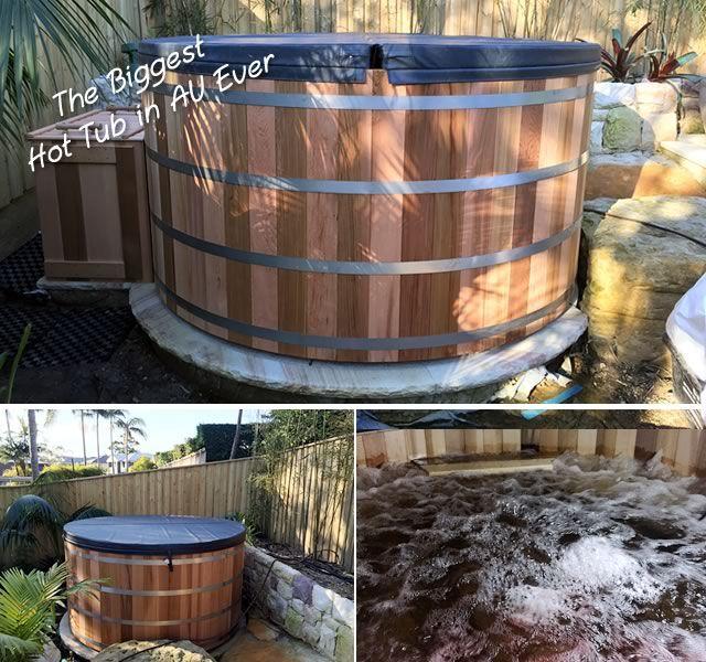 2.4m dia Ukko hot tub installed in Sydney.