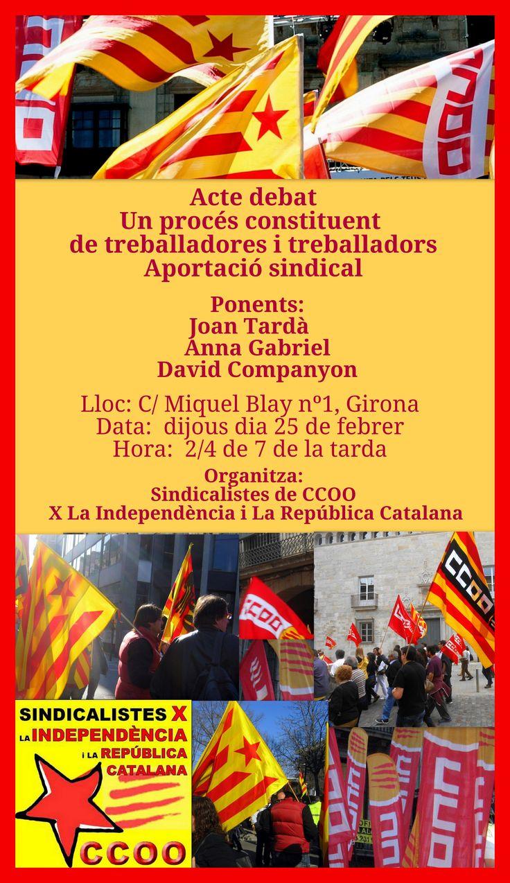 Sindicalistes de CCOO X la Independència i La Repùblica Catalana