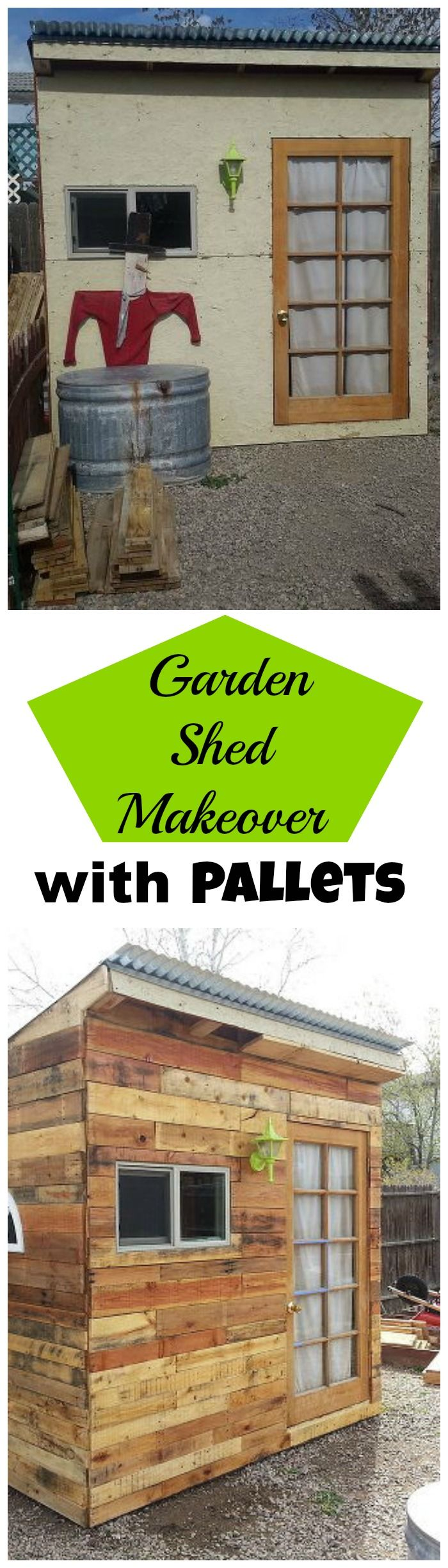 Hometalk easy cabinet door projects - Building A Garden Shed From Pallets