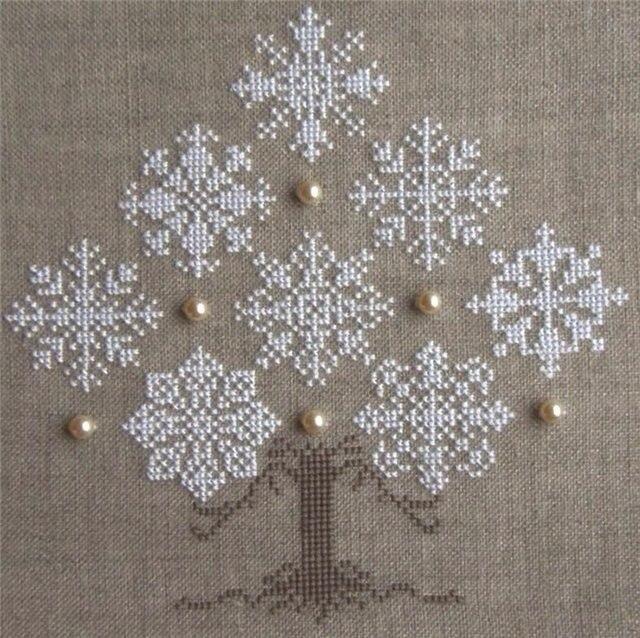 Esquema floco de neve de Natal para Ponto Cruz / Oficina
