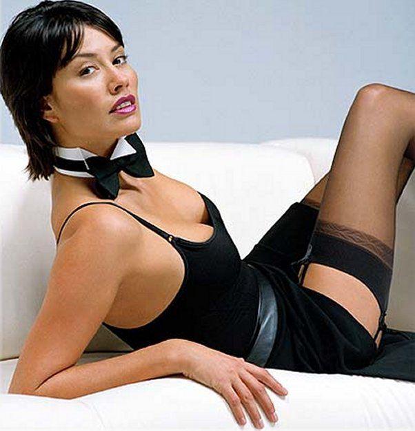 Melanie in stockings luscious cunt