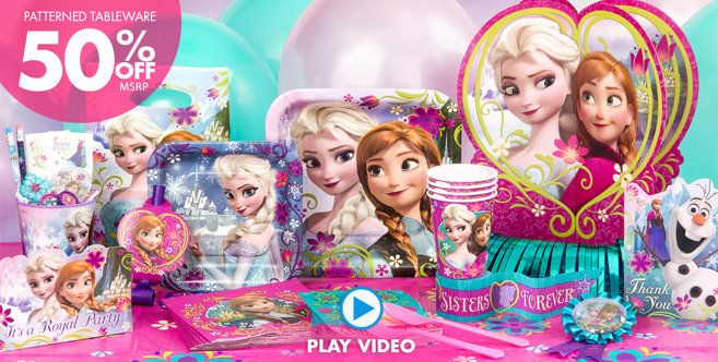 Frozen Party Supplies - Frozen Birthday Party Ideas - Party City