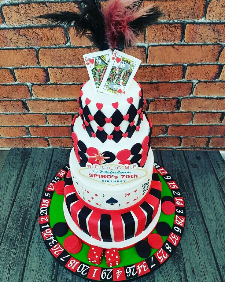 Vegas themed cake ! #vegasbaby #vegas #lasvegas #themedcakes #cakedecorating #cakeart #attentiontodetail #king #queen #cards #roulettewheel #poker #chips #getyours #familycakes