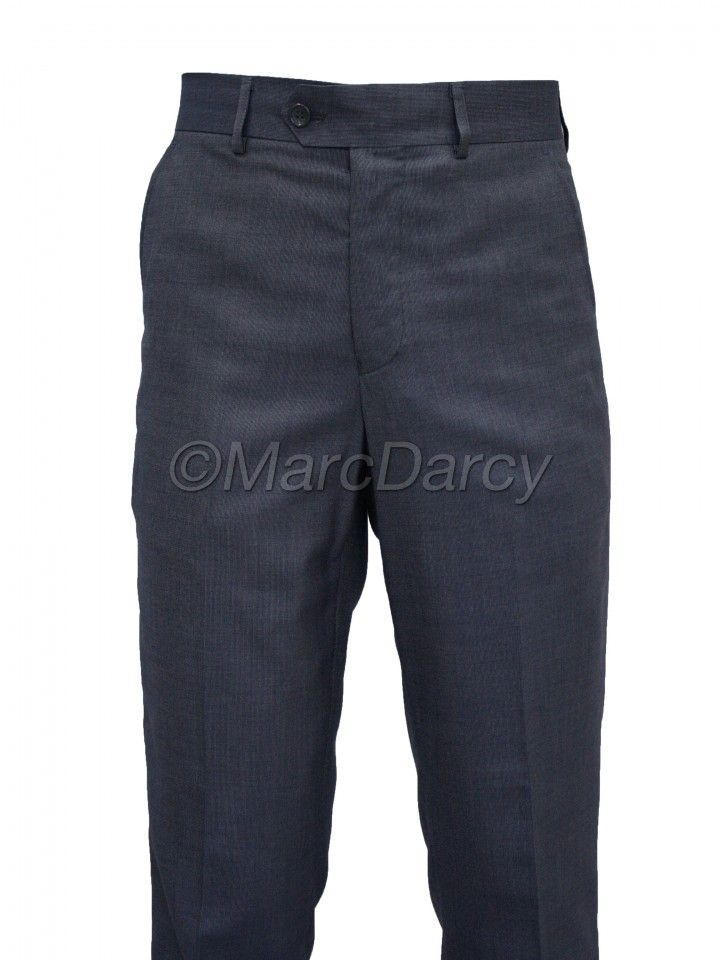 Mens Blue Regular Fit casual formal Trousers