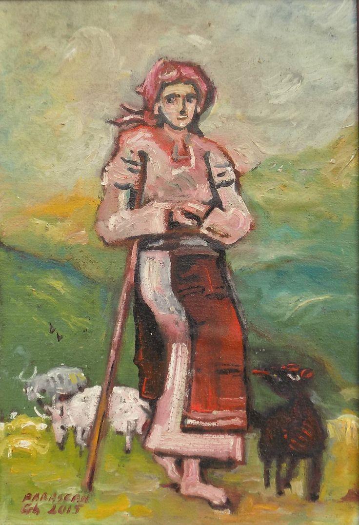 Picturi de Gheorghe Parascan | Taranca la oi | Boutiq Art
