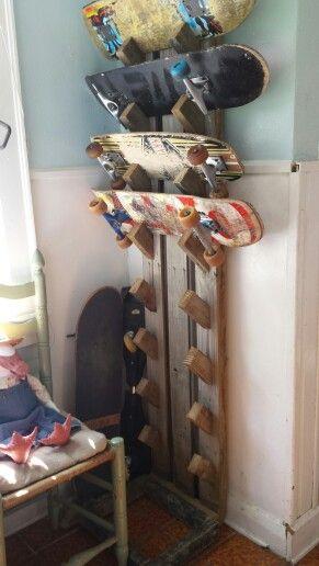 DIY skateboard rack!