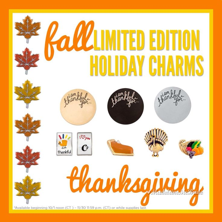 Origami Owl New Thanksgiving charms! What are you thankful for? #thankful #thanksgiving #origamiowl