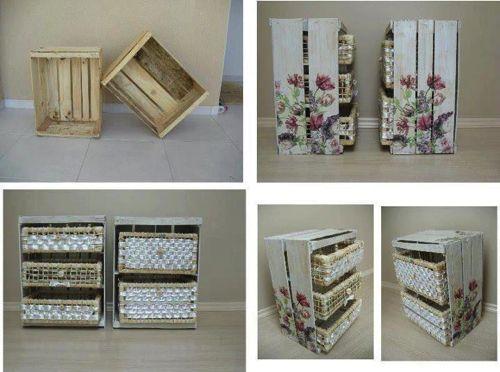 Cassette della Frutta - Idee riciclo. Istruzioni per dipingerle.