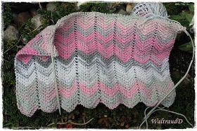 Einen wirkungsvollen, aber sehr einfach zu strickenden Schal, stelle ich Euch heute vor.   Die Zacken sind keine große Kun...