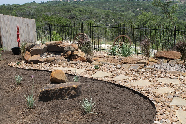 Beautiful #landscape #design with a gorgeous view at an Austin, Texas home by DH Landscape Design