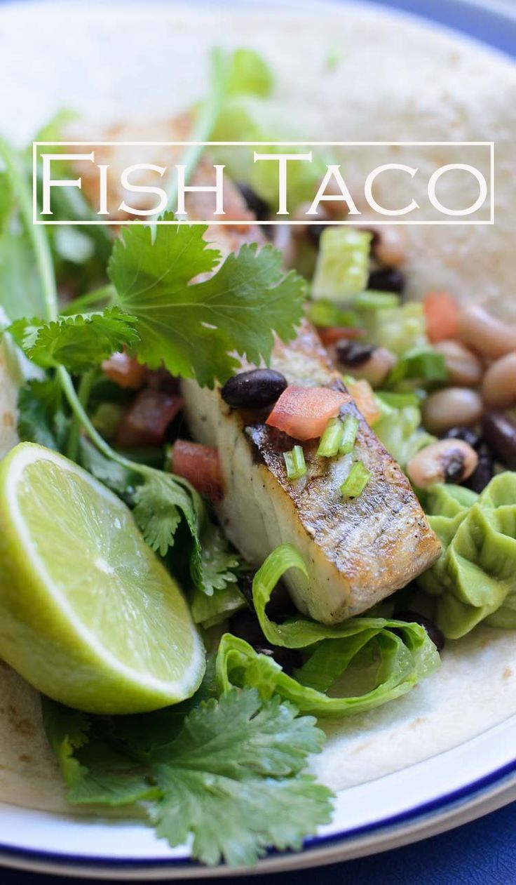Easy and delicious Fish Taco recipe. Fish makes a healthy option for taco filling. Fish Taco, a great summer meal, originate from Baja Peninsula. Fish taco is serve on warm flour tortillas with mixed beans salsa #fishtaco #taco