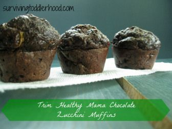 Trim Healthy Mama Chocolate Zuchinni Muffins {GAPS, Grain Free, Gluten Free, THM, Low Carb, Sugar Free} These high fiber muffins are made with mostly flax seed meal and sweetened with stevia.