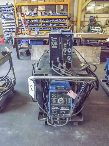 MILLER MIG WELDER MODEL: XMT 300 WITH MILLER EXTENDED REACH WATER COOLED WIRE FEEDER MODEL: XRW, ALL ON WHEELED CART  CT Based Manufacturer of Gas Generating and Processing Equipment - October 9th - Bidding Open Now Through October 9th. Bidding starts to close at 1 PM Eastern at http://www.acceleratedbuysell.net/cgi-bin/mnlist.cgi?perillo54%2Fcategory%2FALL
