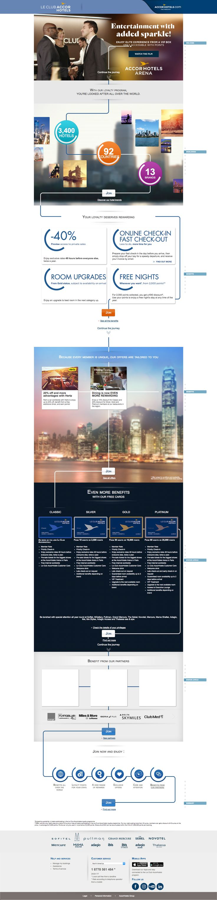 Accor Hotels' explainer page takes customers on an animated journey through their Le Club program.