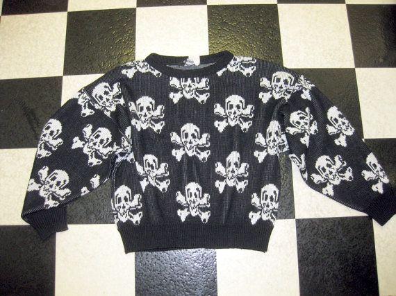LIP SERVICE Skull N' Crossbones Sweaters shirt #SW1