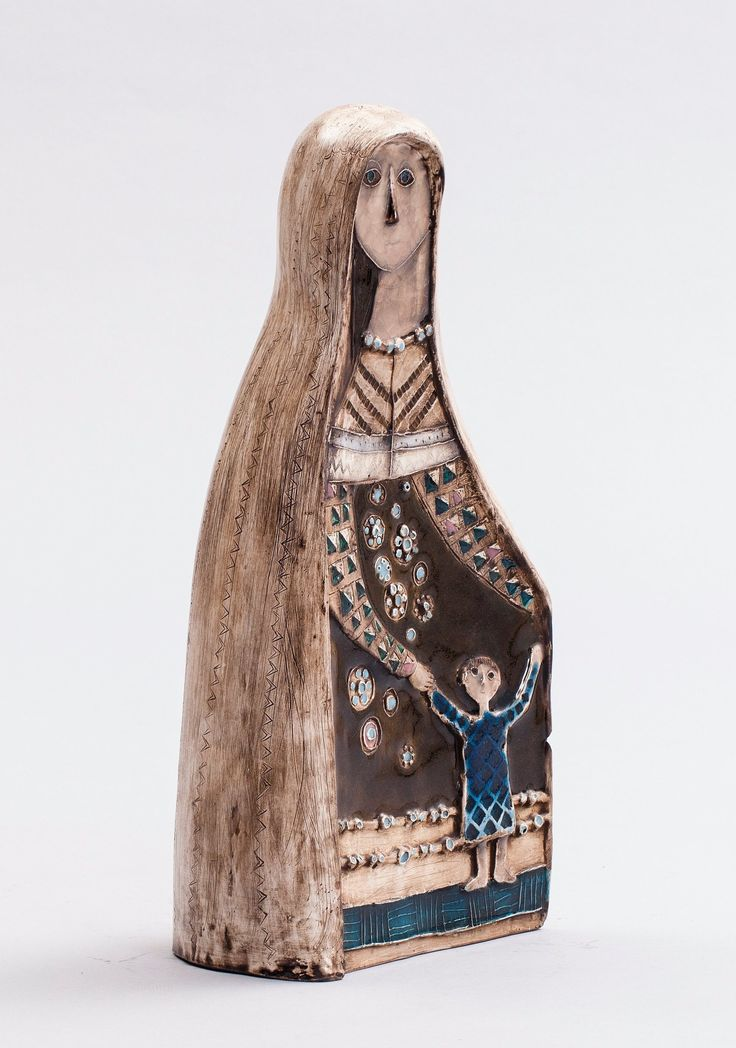 Rut Bryk; Glazed Ceramic Figure, 1950s.