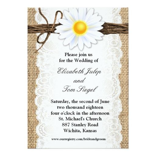 256 best daisy wedding invitations images on pinterest, Wedding invitations