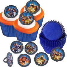 Easy Skylanders Cupcakes:  Rings & Cups