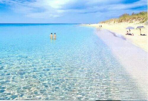 """Marina di Pescoluse le """"maldive"""" del Salento."""