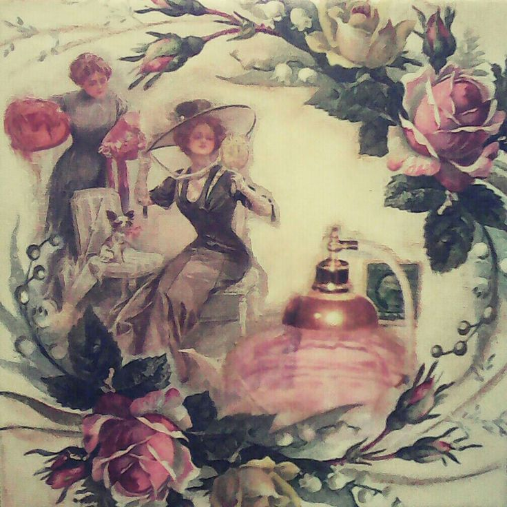 Vintage lady # love # decoupage 🌻🌻🌻
