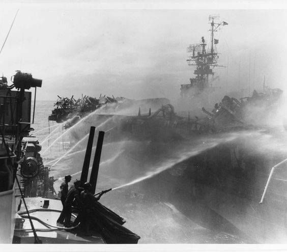 The Battle of Leyte Gulf formerly known as the Second Battle of the Philippine Sea is generally considered to be the largest naval battle of World War II.