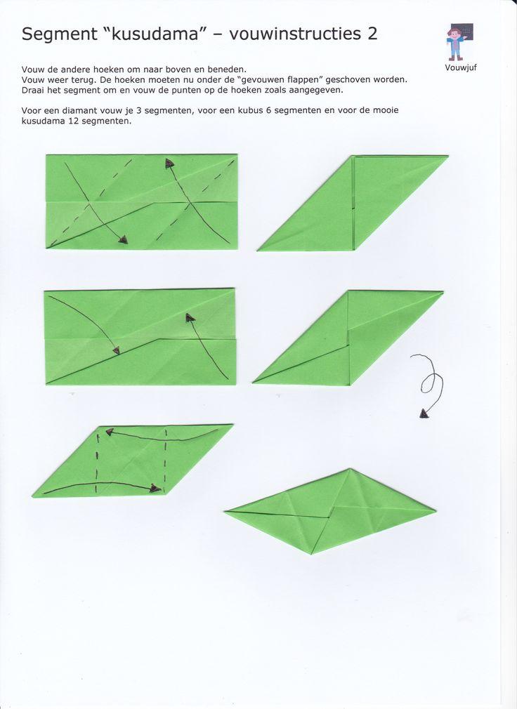 Kusudama 12 segmenten - instructie 2