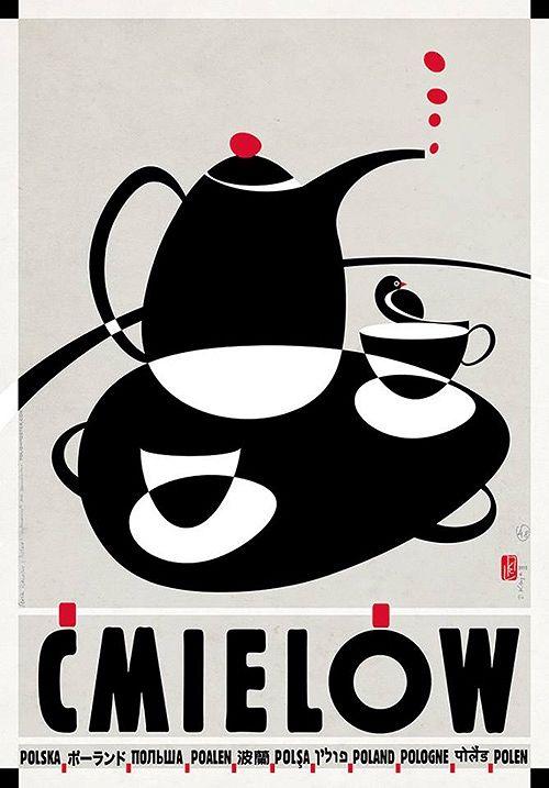 Ćmielów,  plakat z serii Polska, Ryszard Kaja