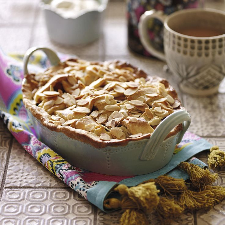 Plum and peach pie, a delicious recipe from the new M&S app.