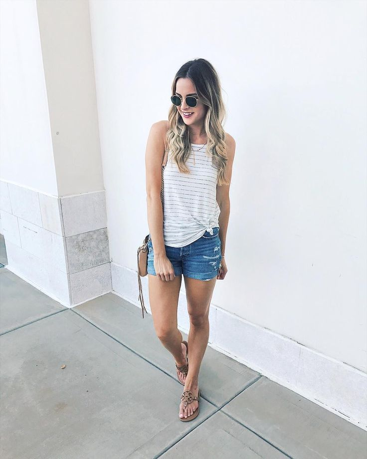 Yesterday's look for a warm & sunny day.  I wore this @shop.nellandrose tank last weekend under a light cardi and on its own today - such a great basic! The rest of my look (including my hair tools - best hair dryer EVER is on major sale ) can be shopped with the @liketoknow.it app or at the link in my bio! http://liketk.it/2s8j8 #liketkit #ltksalealert #nellandrose