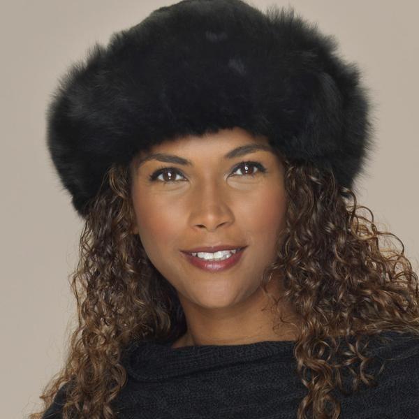 Alpaca fur hat black detail
