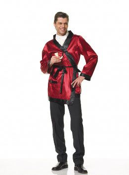 2pc Ultimate bachelor costume includes pipe and robe