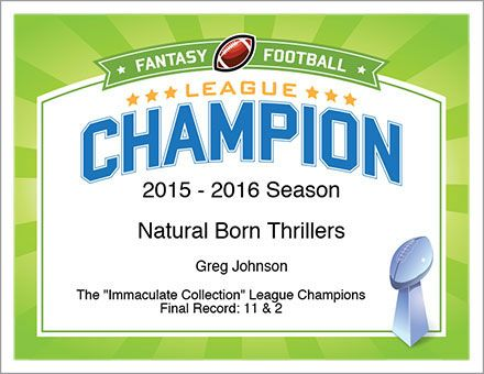 fantasy football champion certificate
