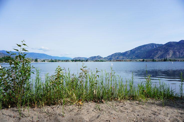 an lonely beach at Osoyoos Lake BC