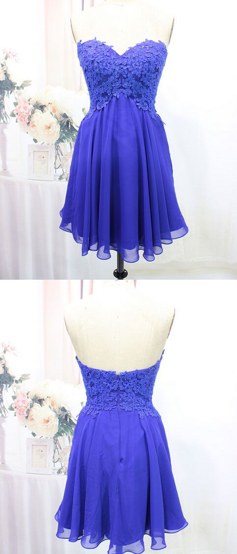Tulle Homecoming Dress,Lace Homecoming Dress,Royal Blue Homecoming Dress,Fitted Homecoming Dress,Short Prom Dress