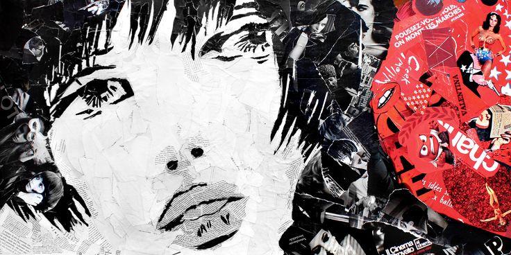 Paola Montanaro - Valentina Crepax -  Magazine Collage Art 120x60cm