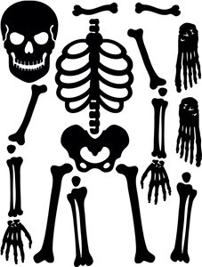 positionable skeleton by samantha walker sku designed by samantha walker this skeleton svg files comes with all the bones you need to make him dance - Halloween Skeleton Template