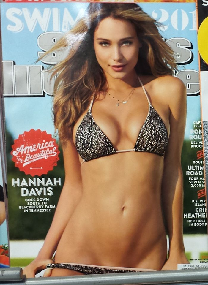 Hannah Davis on the cover of Sports Illustrated swimsuit ...